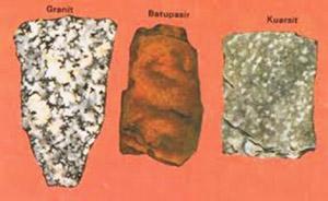 Contoh batuan beku, sedimen, dan metamorf